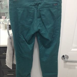tractor jeggings, turquoise